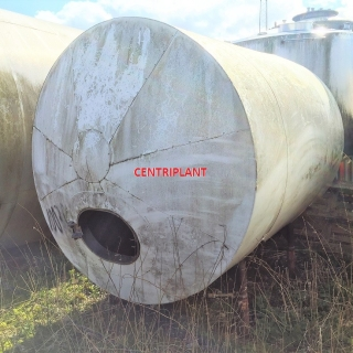 10035 - 6400 LITRE HORIZONTAL STAINLESS STEEL INSULATED TANK.