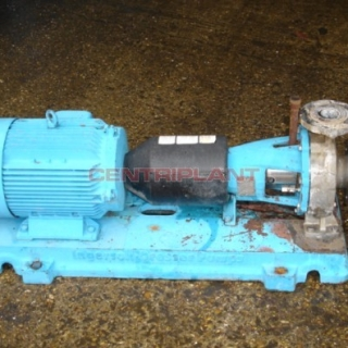 11002 - INGERSOLL DRESSER STAINLESS STEEL PUMP, TYPE 80-50 CPX 200, FLOW RATE 28 M/CU/HOUR.