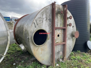 11304 - 12,500 LTR STAINLESS STEEL LOW PRESSURE JACKETED TANK