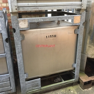 11558 - 1,000 LITRE STAINLESS STEEL SQUARE IBC