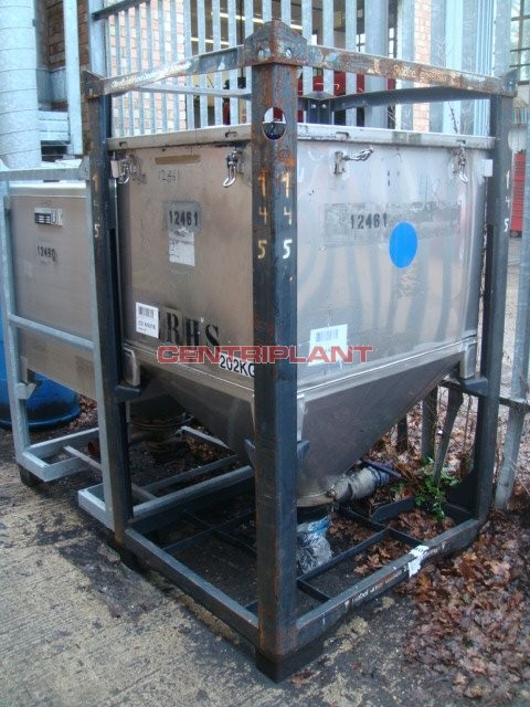 12461 - 1,000 LITRE STAINLESS STEEL OPEN TOP IBC