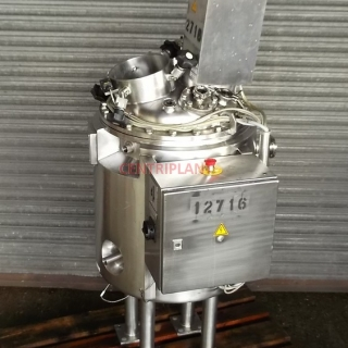 12716 - 111 LITRE STAINLESS STEEL 316L STEAM JACKETED MIXING TANK