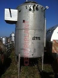 12972 - 4,600 LITRE VERTICAL STAINLESS STEEL TANK