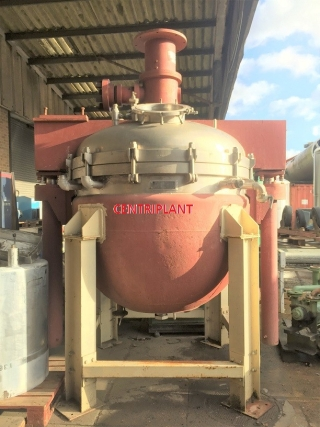 13184 - 3,275 LITRE STAINLESS STEEL STEAM JACKETED CONTRA ROTATING MIXING TANK