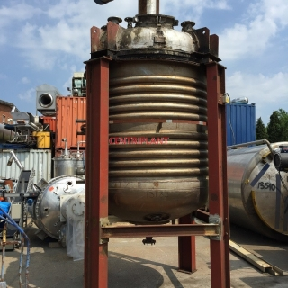 13185 - 6,300 LITRE STAINLESS STEEL JACKETED PRESSURE MIXING TANK