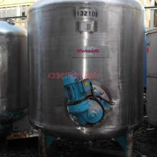 13210 - 1950 LITRE STAINLESS STEEL TANK WITH SIDE ENTRY PROP MIXER