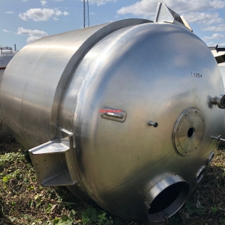 13254 - 9727 LITRE WEBSTER GRADE 316  ST/ ST CONTRA/SIDE SCRAPE STEAM JACKETED MIXING TANK, NO MIXER MOTORS