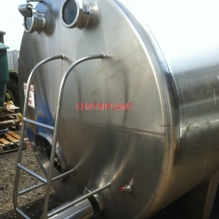 13275 - 9,000 LITRE HORIZONTAL STAINLESS STEEL TANKS INSULATED AND CLAD WITH WELDED STAINLESS STEEL