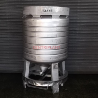 13276 - 800 LITRE ROUND STAINLESS STEEL PRESSURE IBC