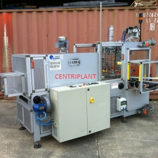 13283 - NOVOPAC AUTOMATIC SIDE INFEED SLEEVE SEALER SHRINK WRAPPER, TUNNEL SIZE 600 MM WIDE X 350 MM HIGH.