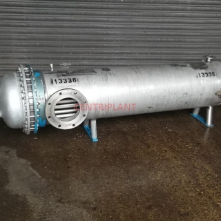13336 - PEDEN MORTENSEN  STAINLESS STEEL SHELL AND TUBE HEAT EXCHANGER
