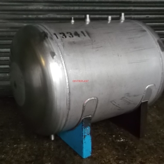 13341 - 171 LITRE HORIZONTAL STAINLESS STEEL TANK, DISHED ENDS