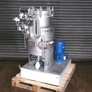 13423 - 75 LITRE STAINLESS STEEL 316L STEAM JACKETED REACTOR