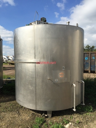 13459 - 12,000 LITRE STAINLESS STEEL JACKETED AND CLAD TANK