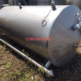 13675 - 5,300 LITRE VERTICAL STAINLESS STEEL TANK, CONICAL ENDS, TANK STANDING ON THREE LEGS