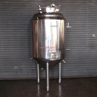 13677 - 550 LITRE CHILLED JACKETED INSULATED AND CLAD WITH STAINLESS STEEL TANK