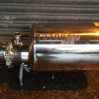 13708 - JOHNSON STAINLESS STEEL FLAME PROOF CIP PUMP, MODEL AS 50-40-40/8NP2T 80, 2in  TRICLOVER CONNECTIONS