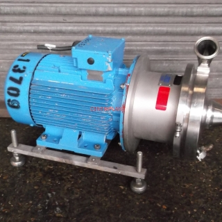 13709 - KPA STAINLESS STEEL CENTRIFUGAL PUMP, MODEL 4 H/2B, 2in  TRICLOVER INLET/OUTLET,7.5 KW DRIVE MOTOR