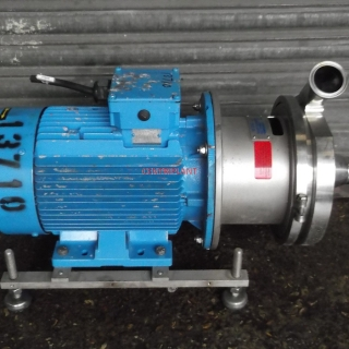 13710 - KPA STAINLESS STEEL CENTRIFUGAL PUMP, MODEL 4 H/2B, 2in  TRICLOVER INLET/OUTLET,7.5 KW DRIVE MOTOR