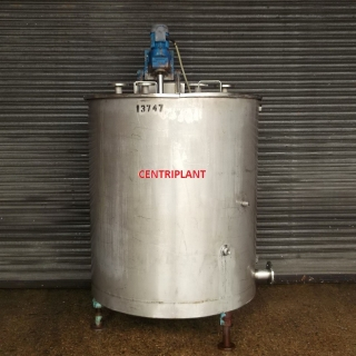 13747 - 1,400 LITRE STAINLESS STEEL MIXING TANK