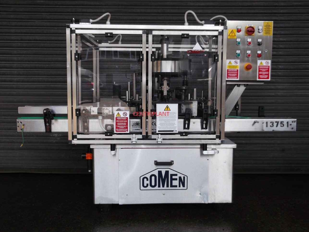 13751 - COMEN BACK AND FRONT WET GLUE LABELLER, MODEL SR/1