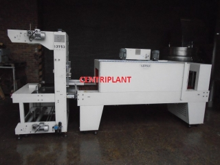 13753 - SHRINK PACKAGING EQUIP SEMI AUTOMATIC SLEEVE SEALER AND SHRINK WRAP TUNNEL, 540 MM WIDE X 400 MM HIG