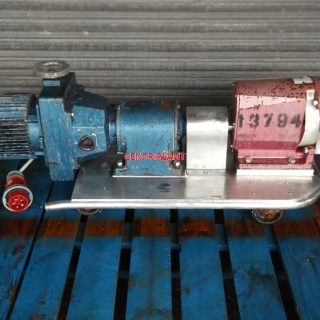 13794 - IBEX VARIABLE SPEED STAINLESS STEEL LOBE PUMP 2in  RJT CONNECTIONS