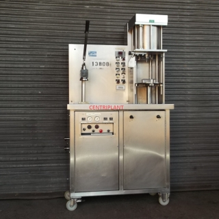 13808 - A I D PACKAGING SEMI AUTOMATIC COUNTER PRESSURE FILLER AND CROWNER