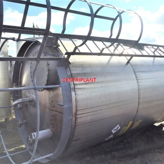 13884 - 17,000 LITRE STAINLESS STEEL BUNDED TANK
