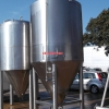 13924 - 6,970 LITRE CHILLED JACKETED TANKS, CONICAL BASE, INSULATED AND CLAD WITH STAINLESS STEEL
