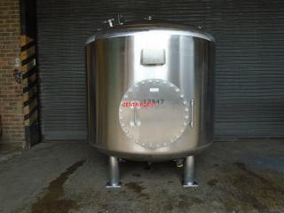 13947 - 2,500 LITRE STAINLESS STEEL PRESSURE/VACUUM TANK