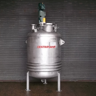 13963 - 1,500 LITRE STAINLESS STEEL JACKETED PRESSURE/VAC MIXING TANK