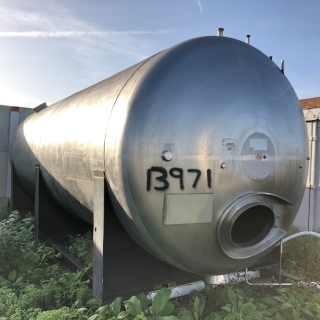 13971 - 25,000 LITRE HORIZONTAL STAINLESS STEEL TANK