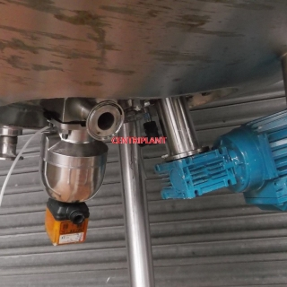 14005 - 200 LITRE STEAM JACKETED PRESSURE MIXING TANK