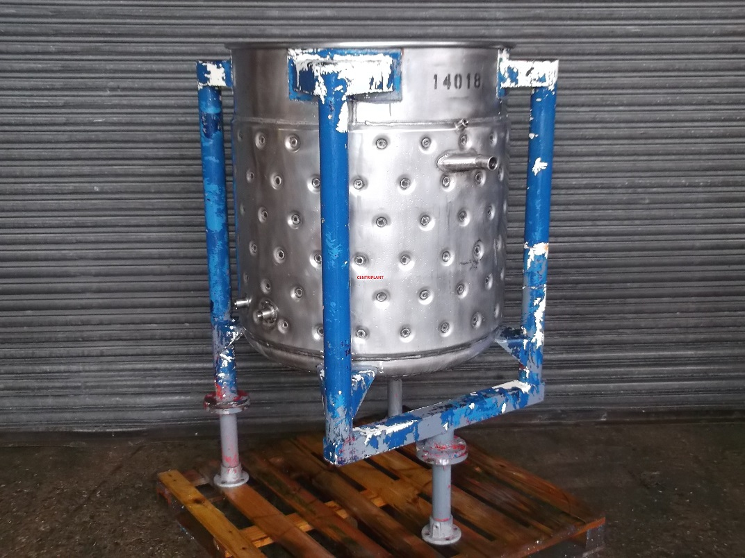 14018 - 500 LITRE STEAM JACKETED OPEN TOP TANK - Centriplant