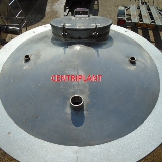 14019 - 1,300 LITRE VERTICAL STAINLESS STEEL GRADE 316 JACKETED TANK