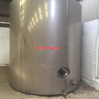 14124 - 22,000 LITRE GRADE 316  VERTICAL STINLESS STEEL TANK, SLOPING BASE, CONICAL TOP