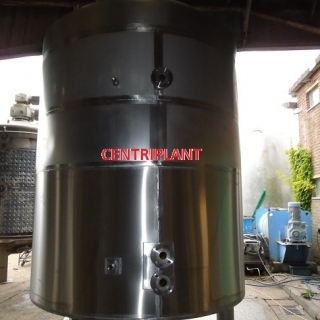 14127 - 4,500 LITRE STAINLESS STEEL STEAM JACKETED SIDE SCRAPE MIXER WITH BOTTOM ENTRY HIGH SHEAR.