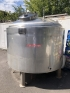 14129 - 3,500 LITRE STAINLESS STEEL JACKETED TANK, INSULATED AND CLAD WITH STAINLESS STEEL