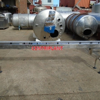 14168 - KING STAINLESS STEEL VARIABLE SPEED 3.1M  LONG X 100 MM WIDE CONVEYOR