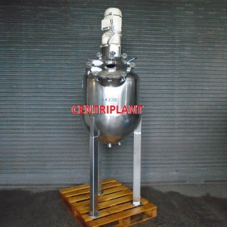 14236 - 260 LITRE GRADE 316 STEAM JACKETED MIXING TANK