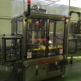 14247 - RONCHI 4 HEAD AUTOMATIC ROTARY SCREW CAPPER WITH CAP SORTED AND CONVEYOR.