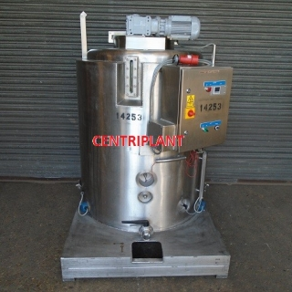 14253 - 600 LITRE STAINLESS STEEL ELECTICAL HEATED MIXING TANK