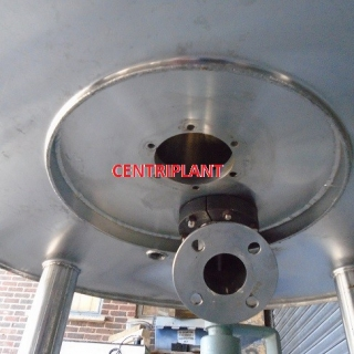 14264 - 850 LITRE GRADE 316 STAINLESS STEEL STEAM JACKETED TANK, INSULATED AND CLAD WITH STAINLESS STEEL
