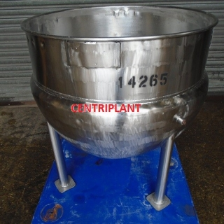 14265 - 285 LITRE STAINLESS STEEL STEAM JACKETED OPEN TOP PAN