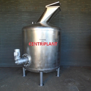 14266 - 2,000 LITRE STAINLESS STEEL MIXING TANK