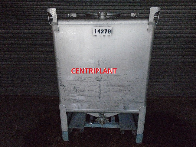 14279 - 1,673 LITRE SQUARE STAINLESS STEEL IBC