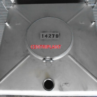 14279 - 1,000 LITRE SQUARE STAINLESS STEEL IBC