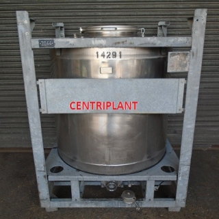 14291 - 1,000 LITRE STAINLESS STEEL ROUND IBC
