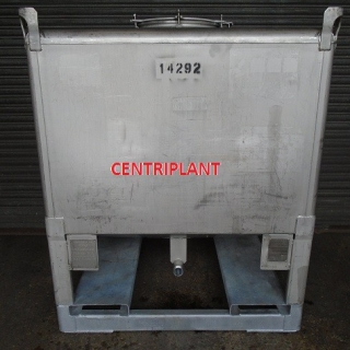 14292 - 1,000 LITRE SQUARE STAINLESS STEEL TANK